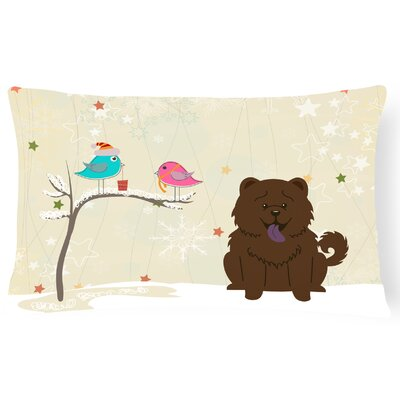 Christmas Modern Fabric Indoor/Outdoor Lumbar Pillow Color: Chocolate