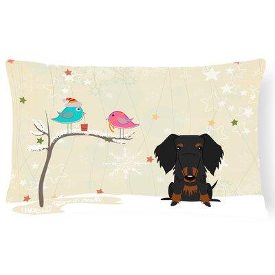 Christmas Modern Solid Indoor/Outdoor Lumbar Pillow Color: Black/Tan