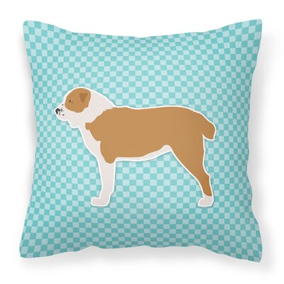 Frabic Indoor/Outdoor Throw Pillow Size: 14 H x 14 W x 3 D, Color: Blue