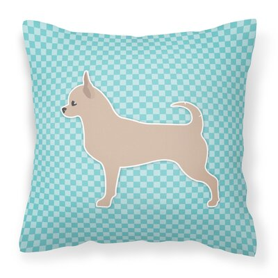 Chihuahua Indoor/Outdoor Throw Pillow Size: 18 H x 18 W x 3 D, Color: Blue