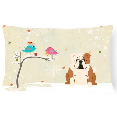 Christmas Indoor/Outdoor Lumbar Pillow Color: Fawn/White