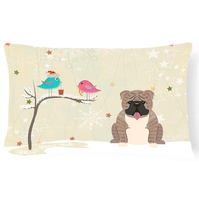 Christmas Indoor/Outdoor Lumbar Pillow Color: Gray