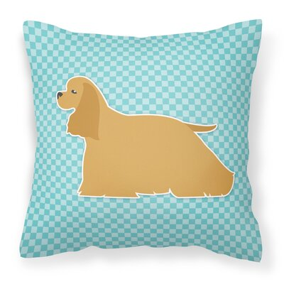Cocker Spaniel Indoor/Outdoor Throw Pillow Size: 14 H x 14 W x 3 D, Color: Blue