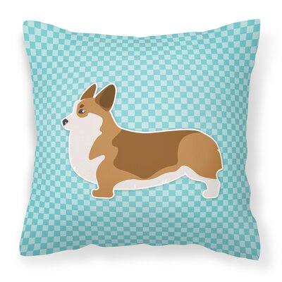 Corgi Indoor/Outdoor Throw Pillow Size: 14 H x 14 W x 3 D, Color: Blue