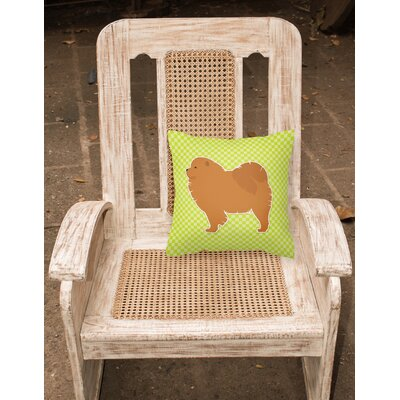 Chow Chow Indoor/Outdoor Throw Pillow Size: 14 H x 14 W x 3 D, Color: Green