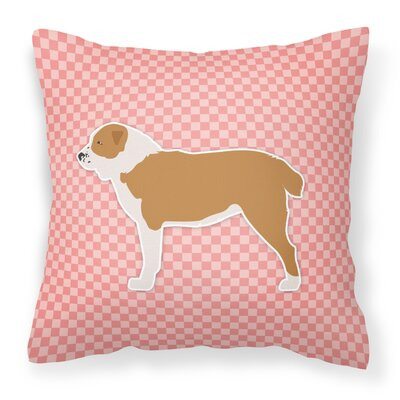 Frabic Indoor/Outdoor Throw Pillow Size: 14 H x 14 W x 3 D, Color: Pink