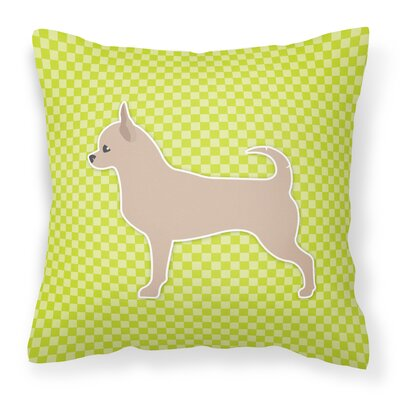 Chihuahua Indoor/Outdoor Throw Pillow Size: 14 H x 14 W x 3 D, Color: Green