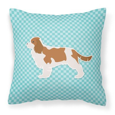 Cavalier King Charles Spaniel Indoor/Outdoor Throw Pillow Size: 14 H x 14 W x 3 D, Color: Blue