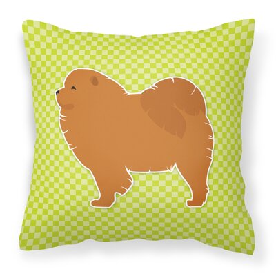 Chow Chow Indoor/Outdoor Throw Pillow Size: 18 H x 18 W x 3 D, Color: Green