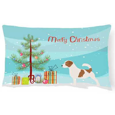 Jack Russell Indoor/Outdoor Lumbar Pillow