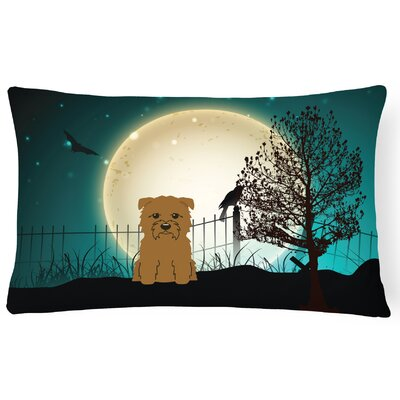 Halloween Indoor/Outdoor Lumbar Pillow Color: Tan