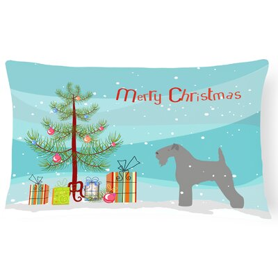 Kerry Blue Terrier Indoor/Outdoor Lumbar Pillow