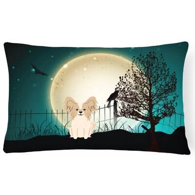 Halloween Indoor/Outdoor Lumbar Pillow Color: Sable/White