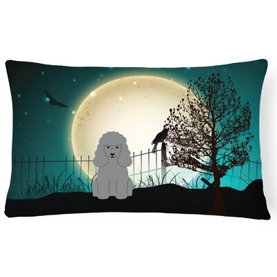 Halloween Indoor/Outdoor Lumbar Pillow Color: Silver