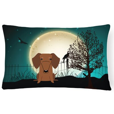 Halloween Indoor/Outdoor Lumbar Pillow Color: Red/Brown