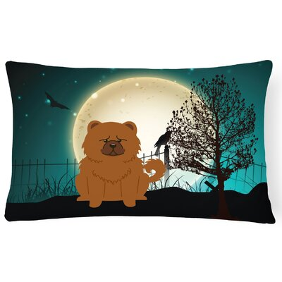 Halloween Indoor/Outdoor Lumbar Pillow Color: Red