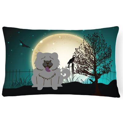 Halloween Indoor/Outdoor Lumbar Pillow Color: Blue