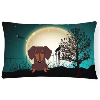Halloween Indoor/Outdoor Lumbar Pillow Color: Chocolate