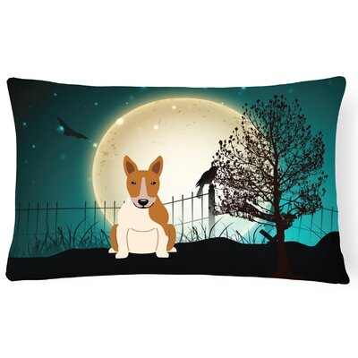 Halloween Indoor/Outdoor Lumbar Pillow Color: Red/White