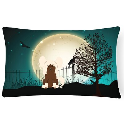 Halloween Indoor/Outdoor Lumbar Pillow Color: Cream