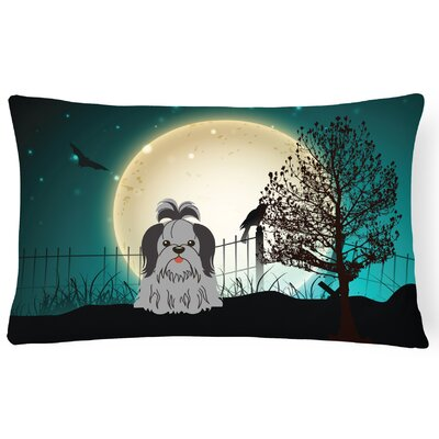 Halloween Indoor/Outdoor Lumbar Pillow Color: Black/Silver