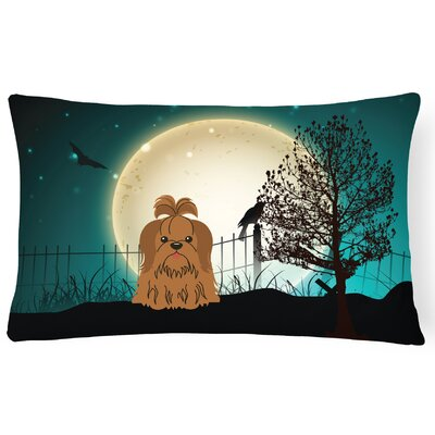 Halloween Indoor/Outdoor Lumbar Pillow Color: Chocolate