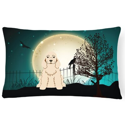 Halloween Indoor/Outdoor Lumbar Pillow Color: Buff