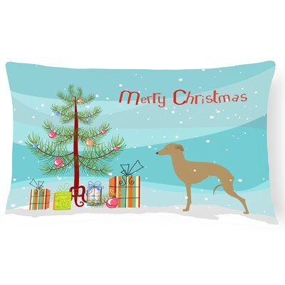 Italian Greyhound Indoor/Outdoor Lumbar Pillow