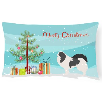 Japanese Chin Indoor/Outdoor Lumbar Pillow