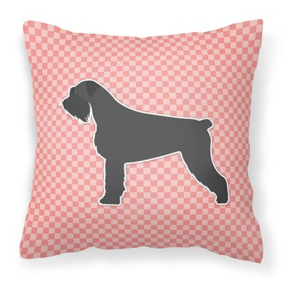 Giant Schnauzer Indoor/Outdoor Throw Pillow Size: 14 H x 14 W x 3 D, Color: Pink