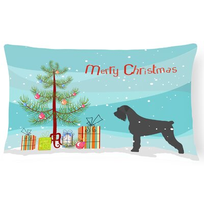 Giant Schnauzer Indoor/Outdoor Lumbar Pillow
