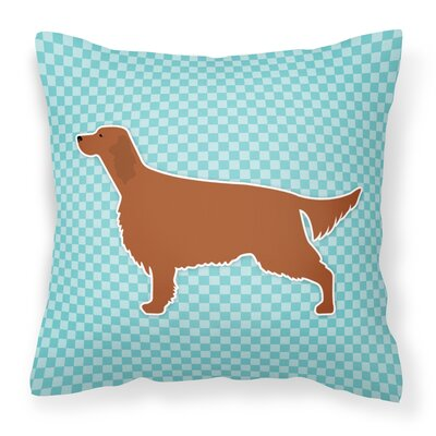 Irish Setter Indoor/Outdoor Throw Pillow Color: Blue, Size: 18 H x 18 W x 3 D