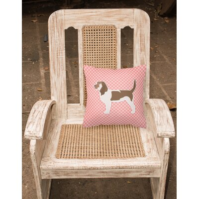 Grand Basset Griffon Vendeen Indoor/Outdoor Throw Pillow Size: 14 H x 14 W x 3 D, Color: Pink