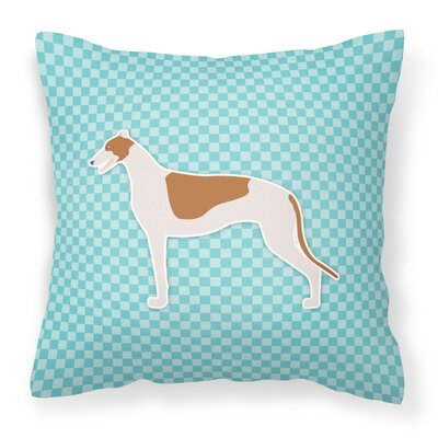 Greyhound Indoor/Outdoor Throw Pillow Color: Blue, Size: 18 H x 18 W x 3 D