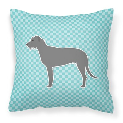 Irish Wolfhound Indoor/Outdoor Throw Pillow Size: 14 H x 14 W x 3 D, Color: Blue