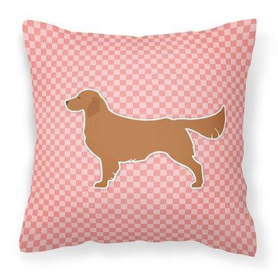 Golden Retriever Indoor/Outdoor Throw Pillow Size: 14 H x 14 W x 3 D, Color: Pink