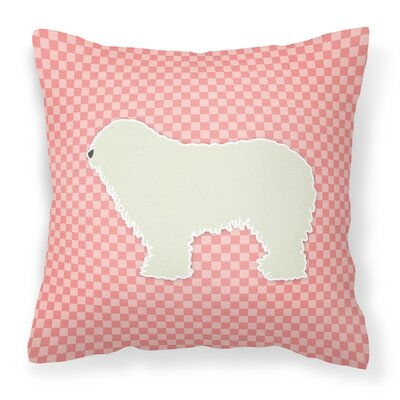 Komondor Indoor/Outdoor Throw Pillow Size: 14 H x 14 W x 3 D, Color: Pink