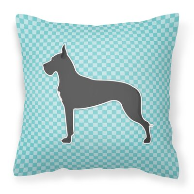 Great Dane Indoor/Outdoor Throw Pillow Size: 14 H x 14 W x 3 D, Color: Blue