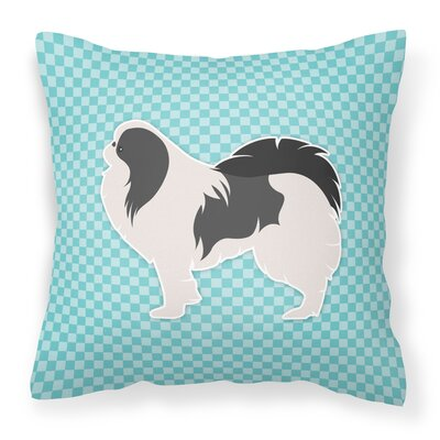 Japanese Chin Indoor/Outdoor Throw Pillow Size: 14 H x 14 W x 3 D, Color: Blue
