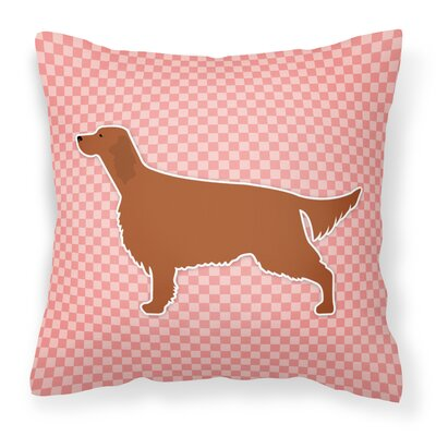 Irish Setter Indoor/Outdoor Throw Pillow Size: 18 H x 18 W x 3 D, Color: Pink