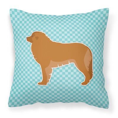 Leonberger Indoor/Outdoor Throw Pillow Size: 14 H x 14 W x 3 D, Color: Blue