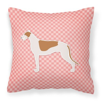 Greyhound Indoor/Outdoor Throw Pillow Size: 18 H x 18 W x 3 D, Color: Pink