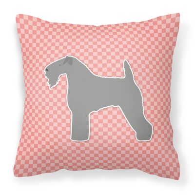 Kerry Blue Terrier Indoor/Outdoor Throw Pillow Size: 14 H x 14 W x 3 D, Color: Pink