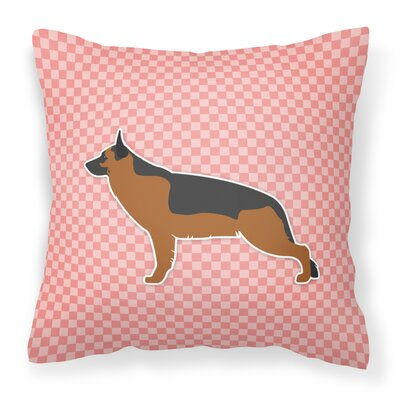 German Shepherd Indoor/Outdoor Throw Pillow Size: 14 H x 14 W x 3 D, Color: Pink