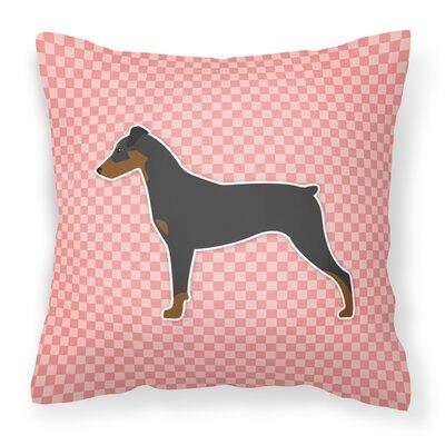 German Pinscher Indoor/Outdoor Throw Pillow Size: 14 H x 14 W x 3 D, Color: Pink
