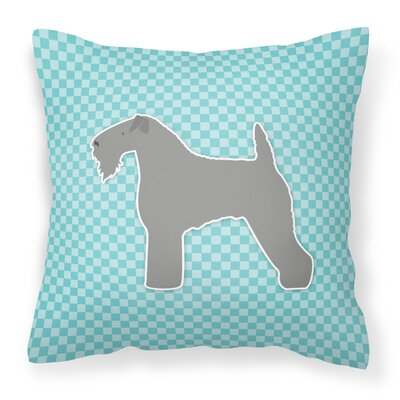 Kerry Blue Terrier Indoor/Outdoor Throw Pillow Size: 18 H x 18 W x 3 D, Color: Blue