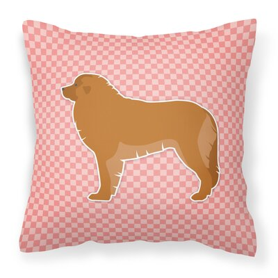 Leonberger Indoor/Outdoor Throw Pillow Color: Pink, Size: 18 H x 18 W x 3 D