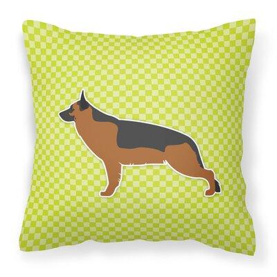 German Shepherd Indoor/Outdoor Throw Pillow Size: 18 H x 18 W x 3 D, Color: Green