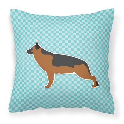 German Shepherd Indoor/Outdoor Throw Pillow Size: 14 H x 14 W x 3 D, Color: Blue