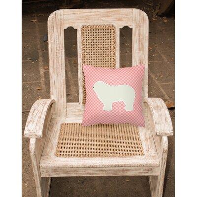 Komondor Indoor/Outdoor Throw Pillow Size: 14 H x 14 W x 3 D, Color: Pink